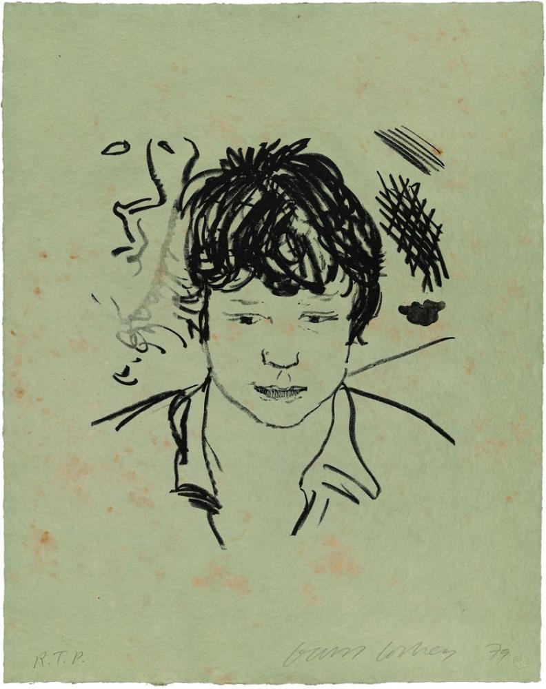 David Hockney, Byron Çalışması, Figür, David Hockney, kanvas tablo, canvas print sales