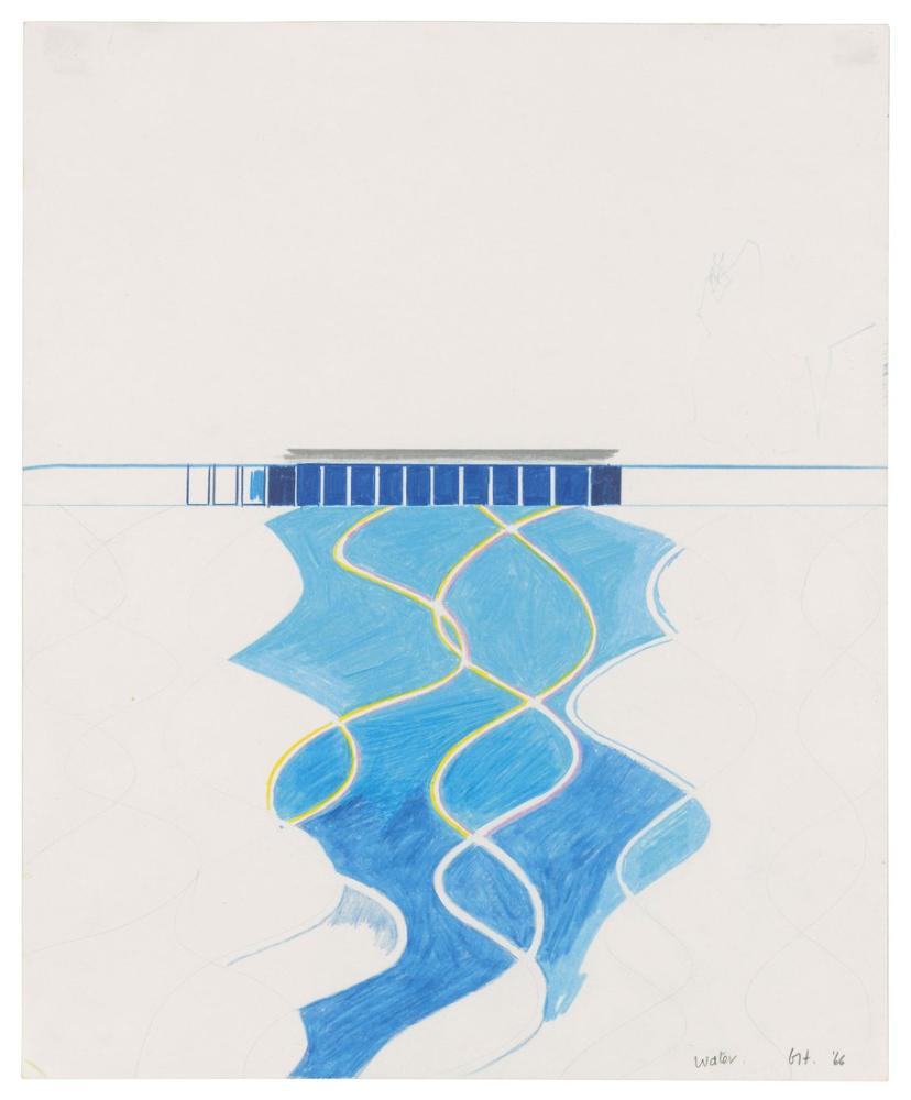 David Hockney, Havuzdaki Su Çalışması, Kanvas Tablo, David Hockney