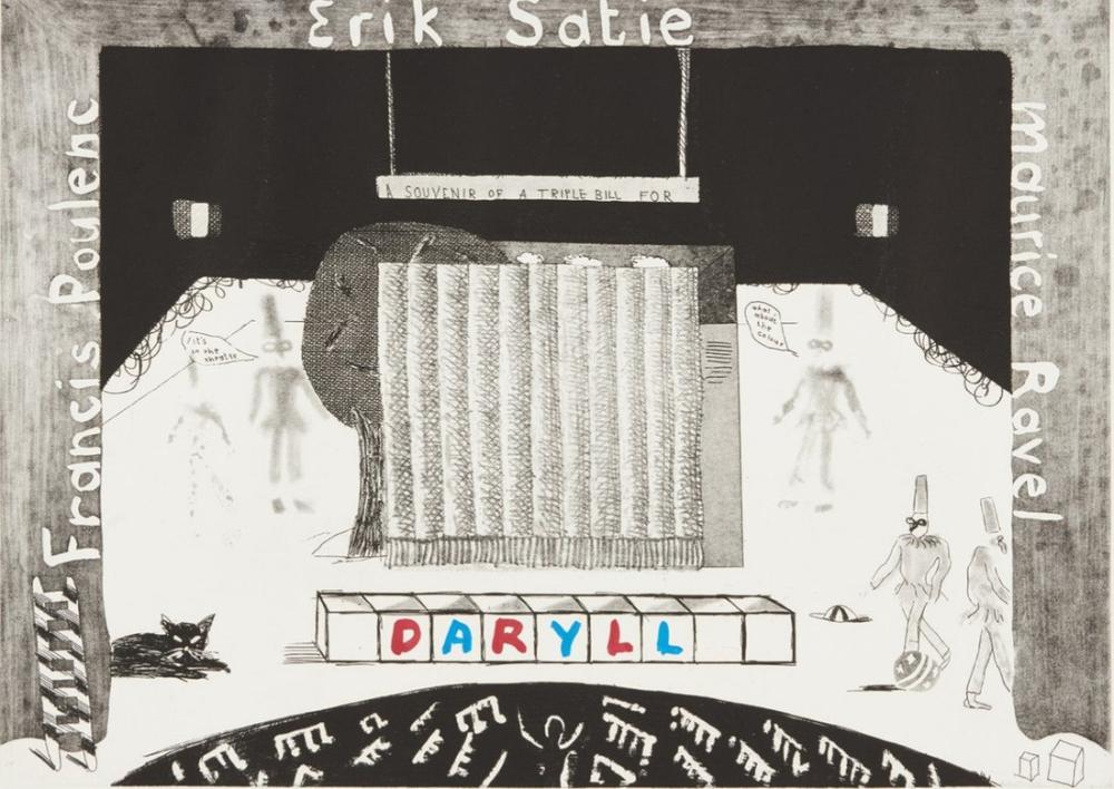 David Hockney, Üçlü Tasarının Hatırası, Figür, David Hockney