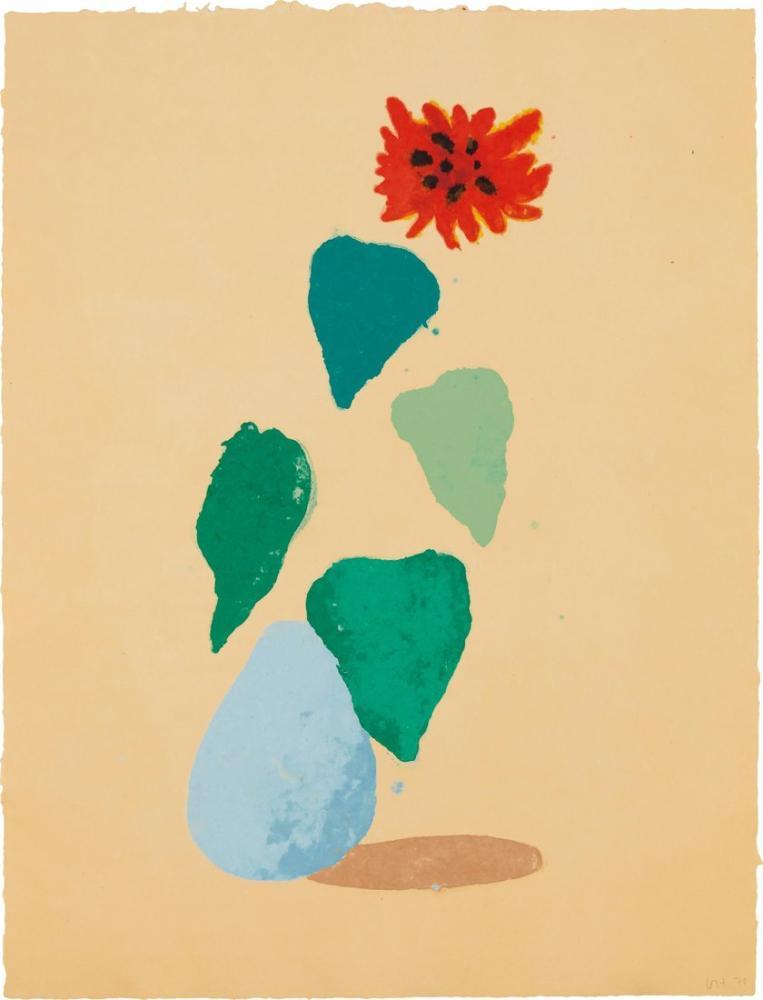 David Hockney, Ayçiçeği H, Figür, David Hockney