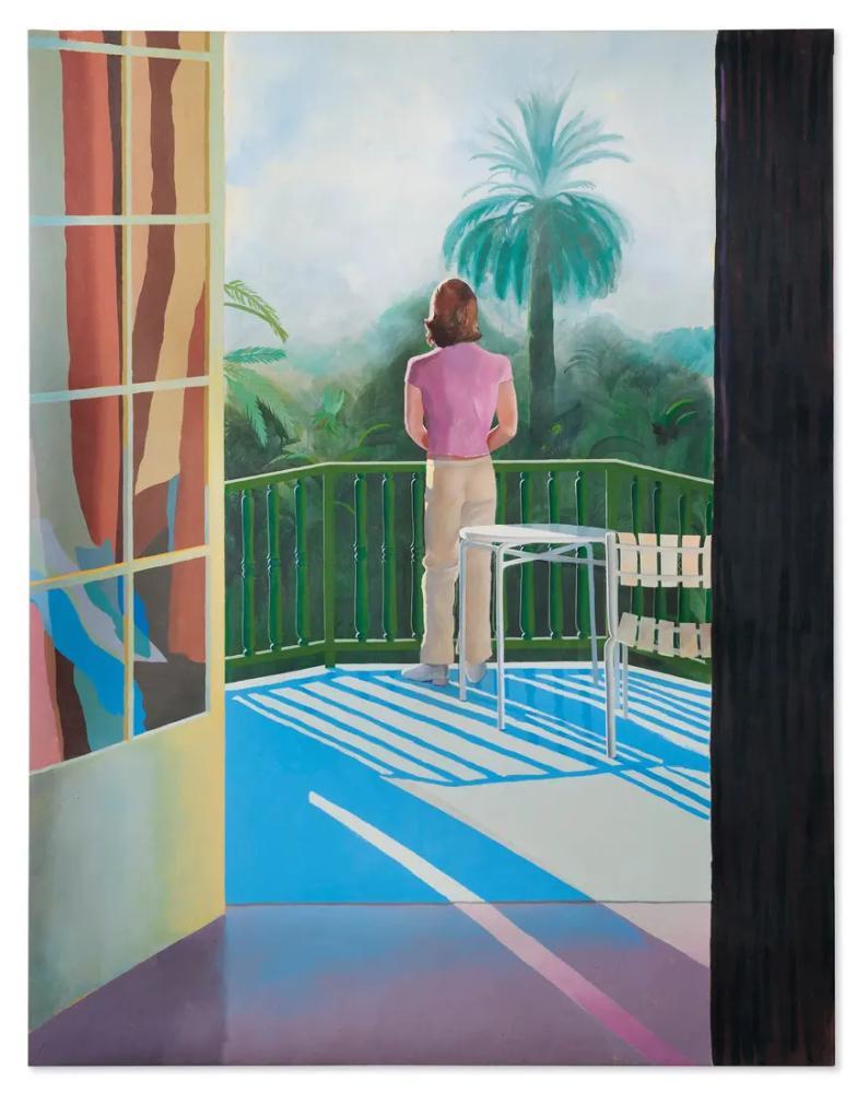David Hockney, Sur la Terrasse, Figure, David Hockney, kanvas tablo, canvas print sales