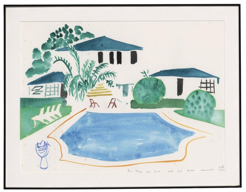 David Hockney, Yüzme Havuzu, Kanvas Tablo, David Hockney
