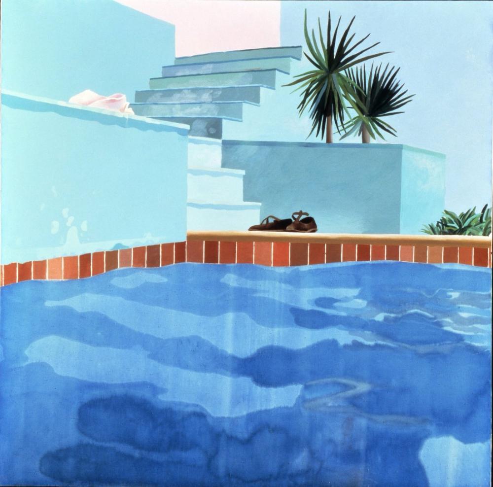 David Hockney, Evde Yüzme Havuzu, Kanvas Tablo, David Hockney