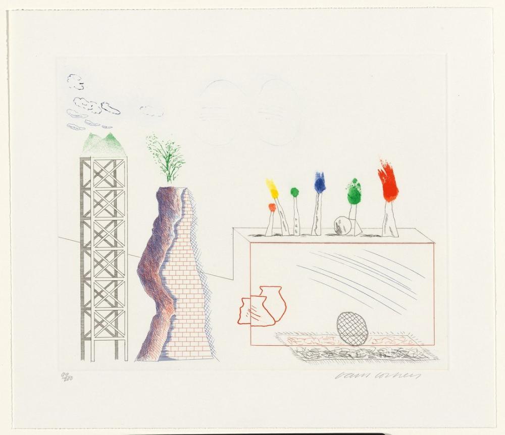 David Hockney, A Tune, Figure, David Hockney, kanvas tablo, canvas print sales