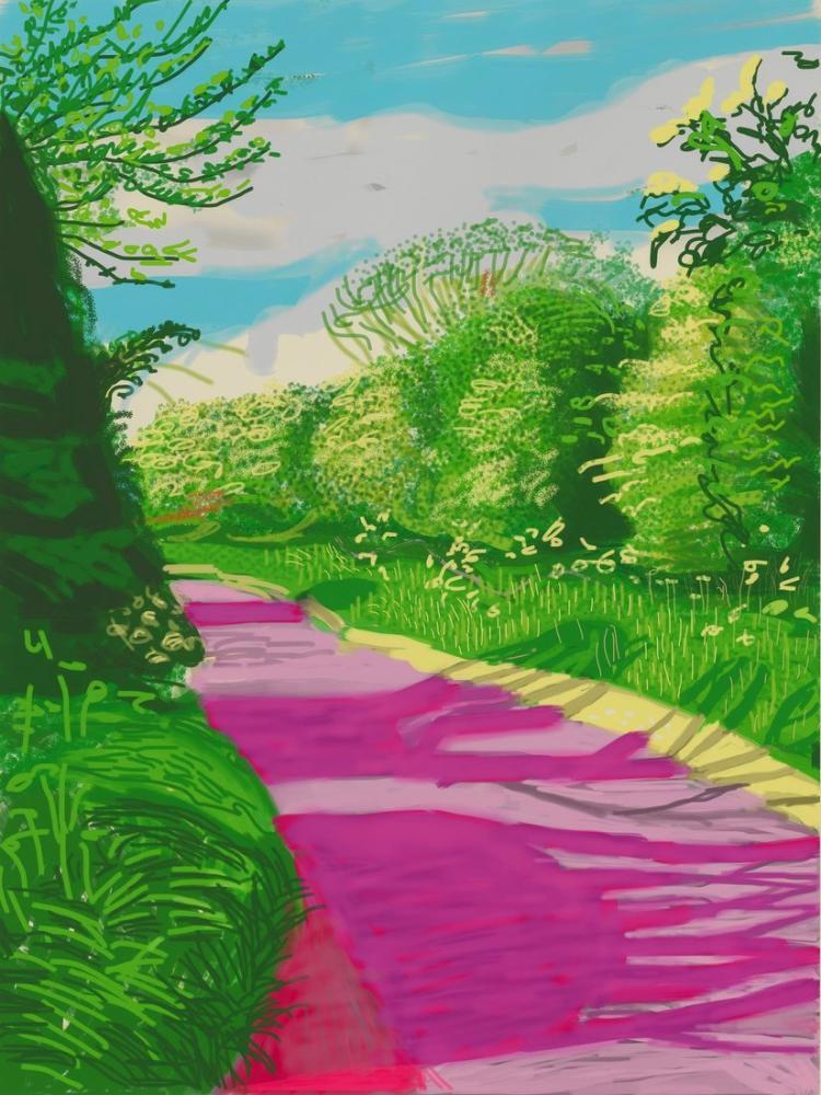 David Hockney, Baharın Gelişi, Kanvas Tablo, David Hockney