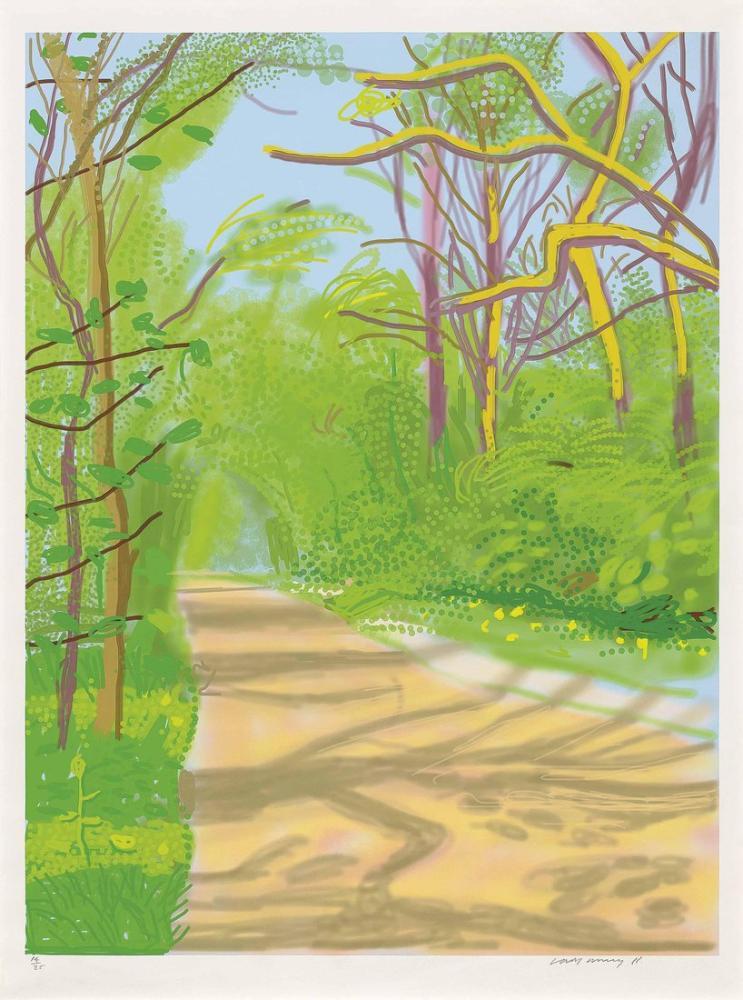 David Hockney, The Arrival of Spring in Woldgate, Canvas, David Hockney, kanvas tablo, canvas print sales
