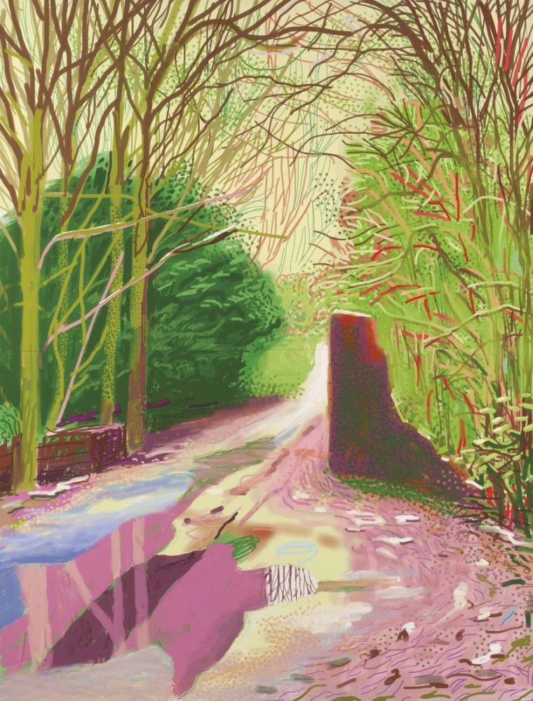 David Hockney, The Arrival of Spring in Woldgate East Yorkshire, Canvas, David Hockney, kanvas tablo, canvas print sales