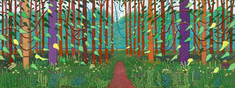 David Hockney, The Arrival of Spring in Woldgate, East Yorkshire, Canvas, David Hockney, kanvas tablo, canvas print sales