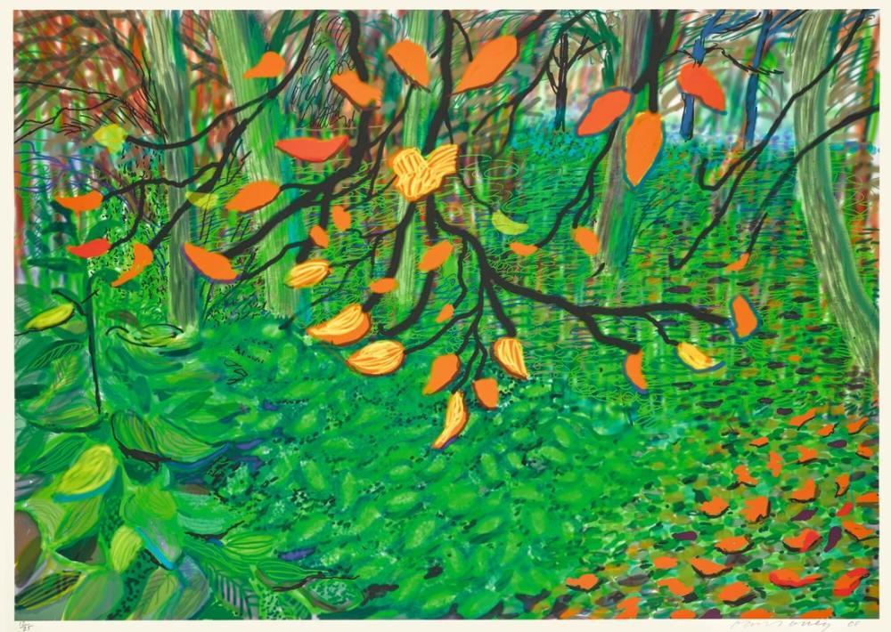 David Hockney, Sonbahar Yaprakları, Kanvas Tablo, David Hockney