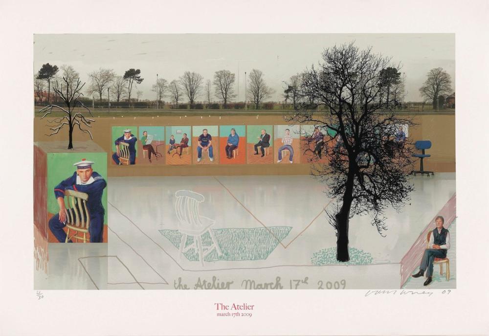 David Hockney, Atölye 17 Mart 2009, Figür, David Hockney