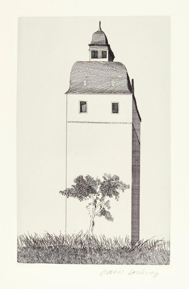 David Hockney, Çan Kulesi, Kanvas Tablo, David Hockney