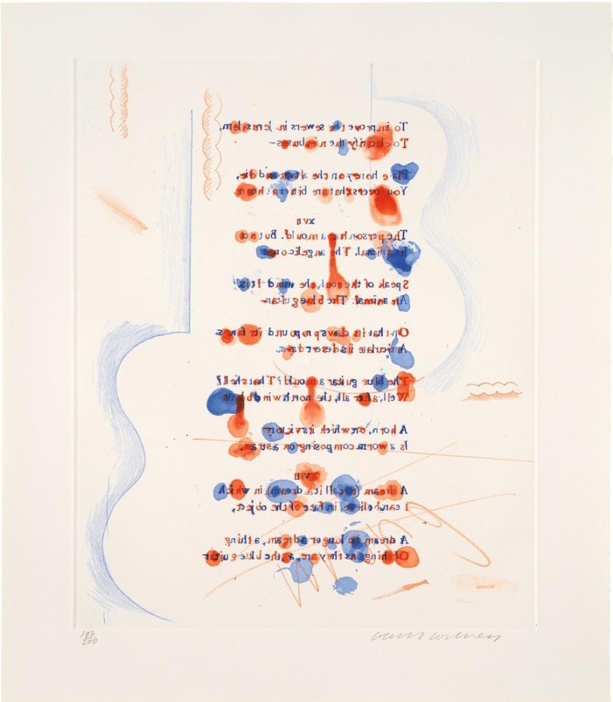 David Hockney, Mavi Gitar 5, Figür, David Hockney