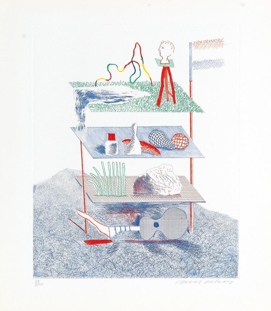 David Hockney, Mavi Gitar, Figür, David Hockney