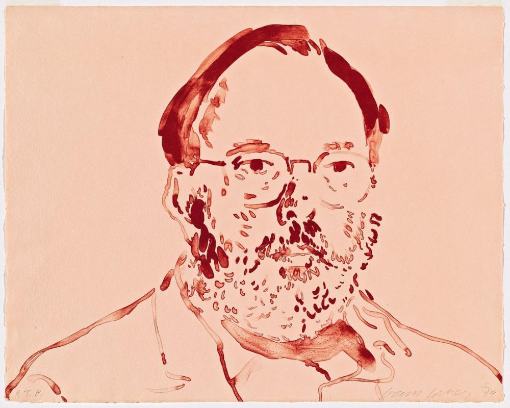 David Hockney, Komisyoncu 1979, Figür, David Hockney