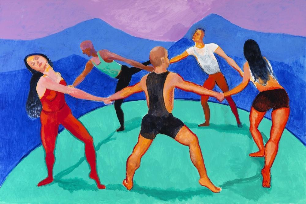 David Hockney, Dansçılar V, Figür, David Hockney