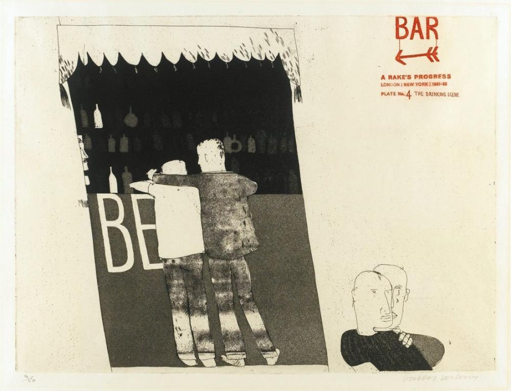 David Hockney, İçme Sahnesi, Figür, David Hockney
