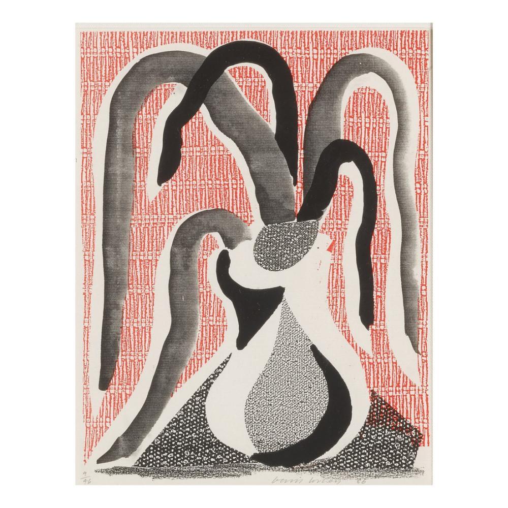 David Hockney, Sarkık Bitki, Figür, David Hockney