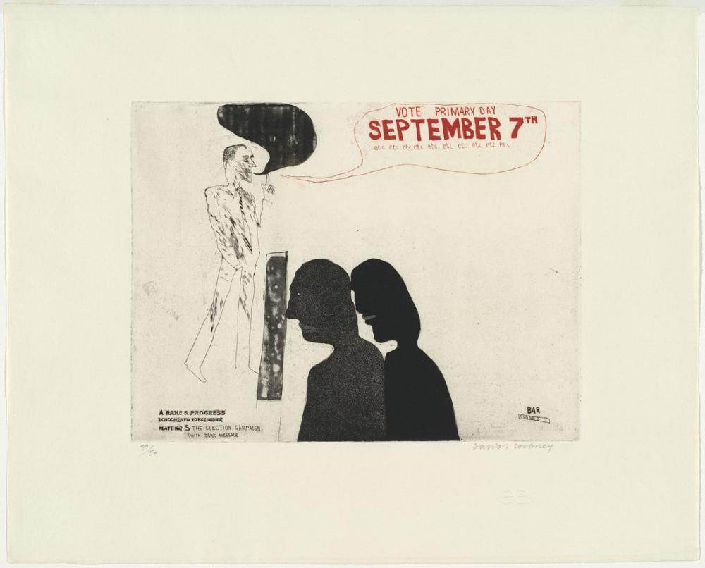 David Hockney, The Election Campaign with Dark Message, Figure, David Hockney, kanvas tablo, canvas print sales