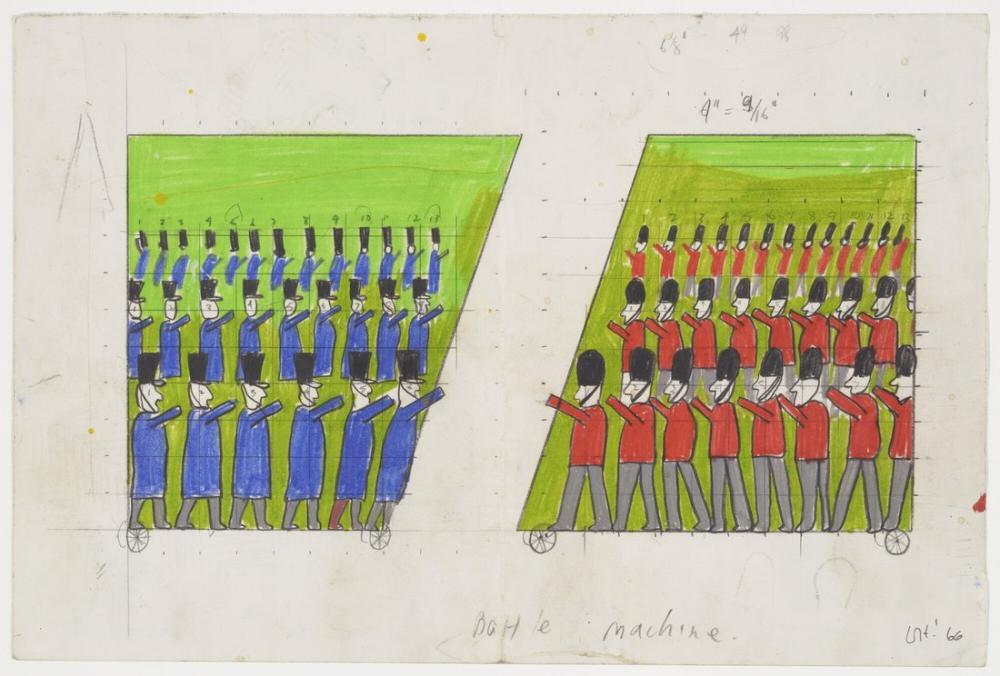 David Hockney, Savaş Makinesi, Ubu Roi Oyunu İçin Tasarım, Figür, David Hockney