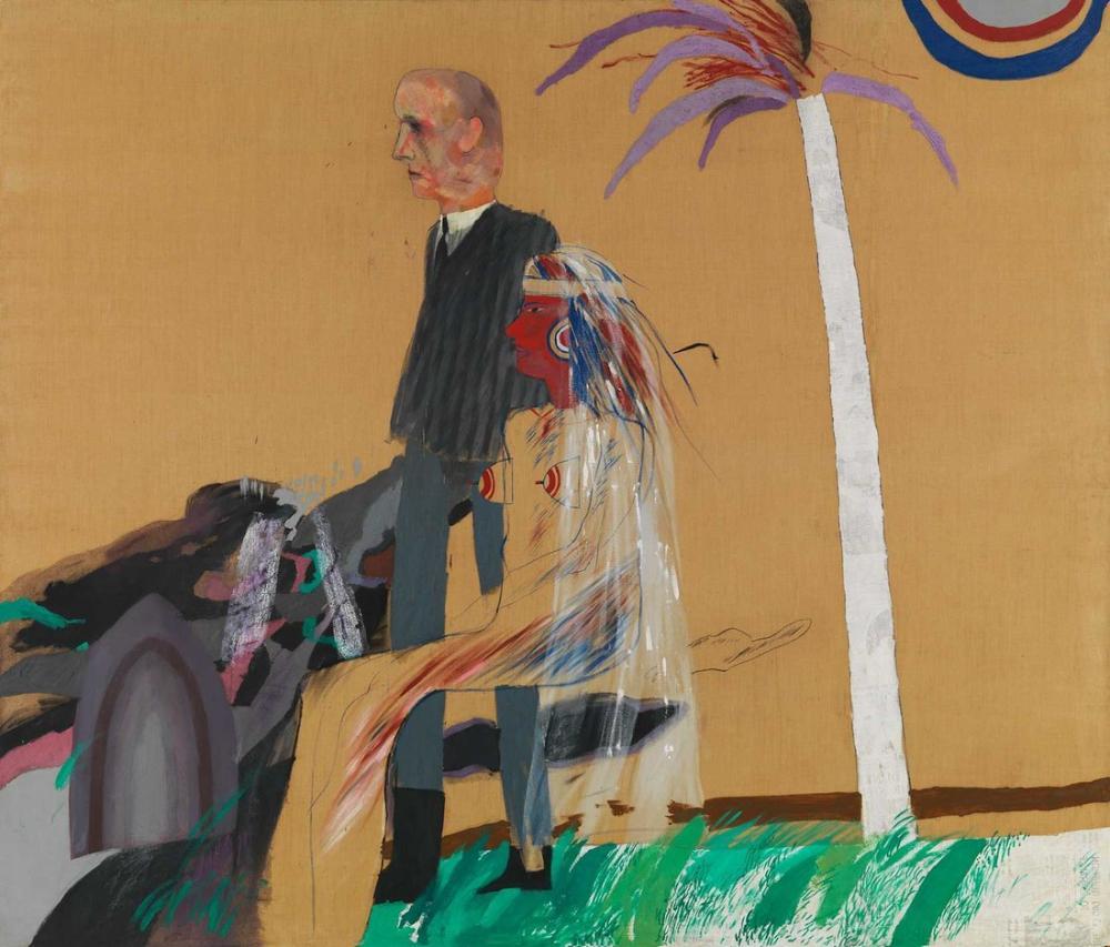 David Hockney, The First Marriage, Figure, David Hockney, kanvas tablo, canvas print sales