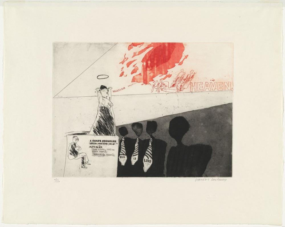 David Hockney, Gospel Şarkı Söylüyor, Figür, David Hockney, kanvas tablo, canvas print sales