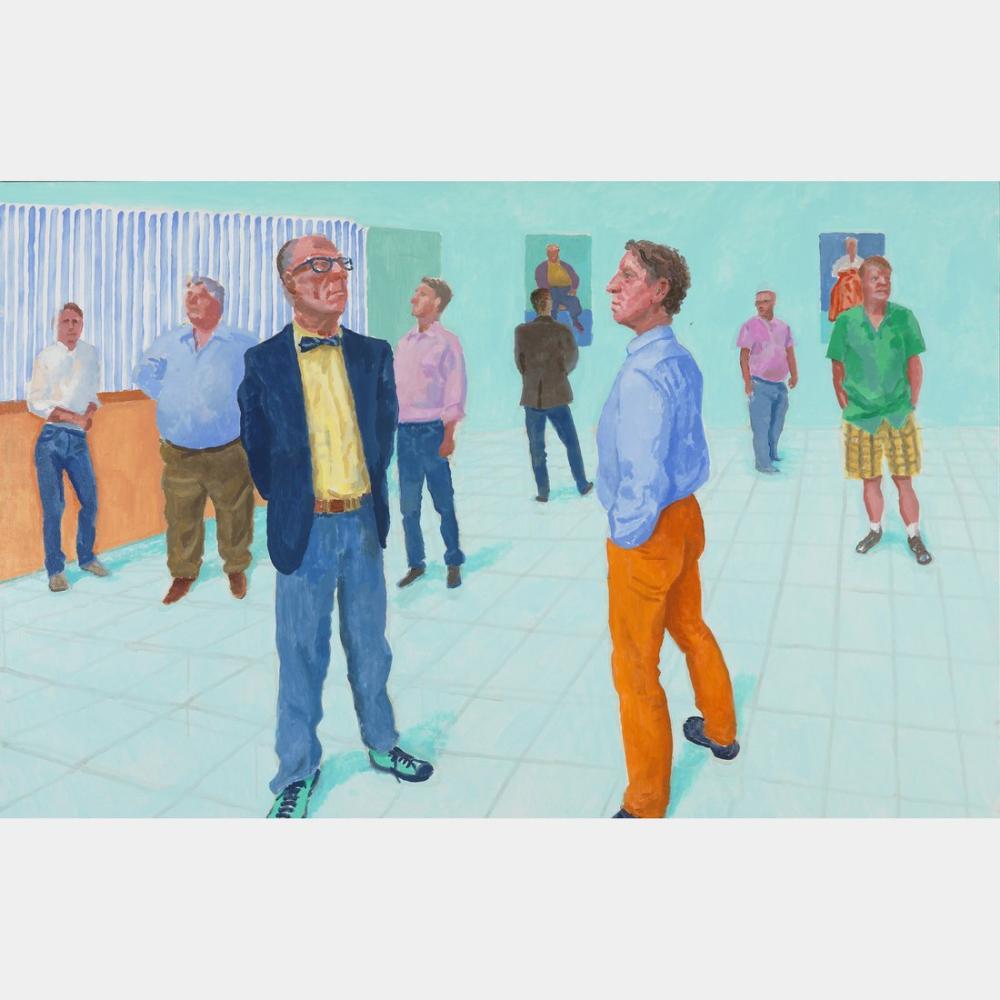 David Hockney, Grup VII, Figür, David Hockney