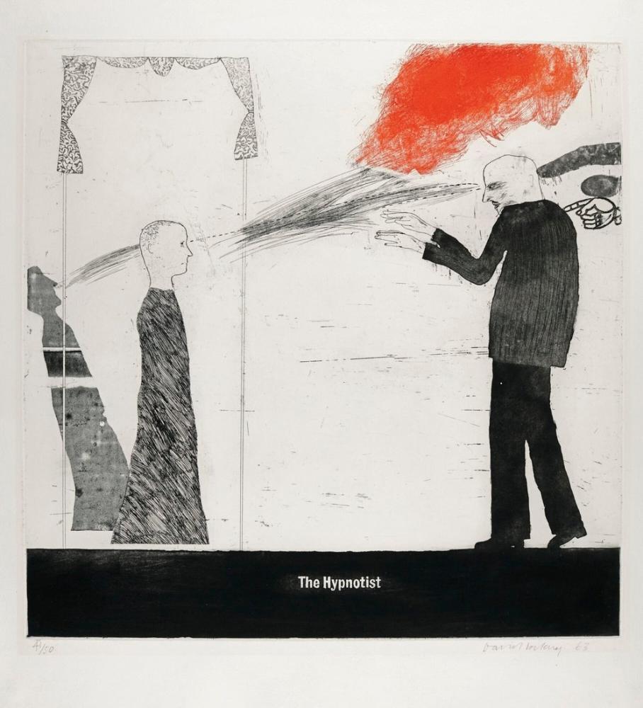 David Hockney, Hipnozcu, Figür, David Hockney