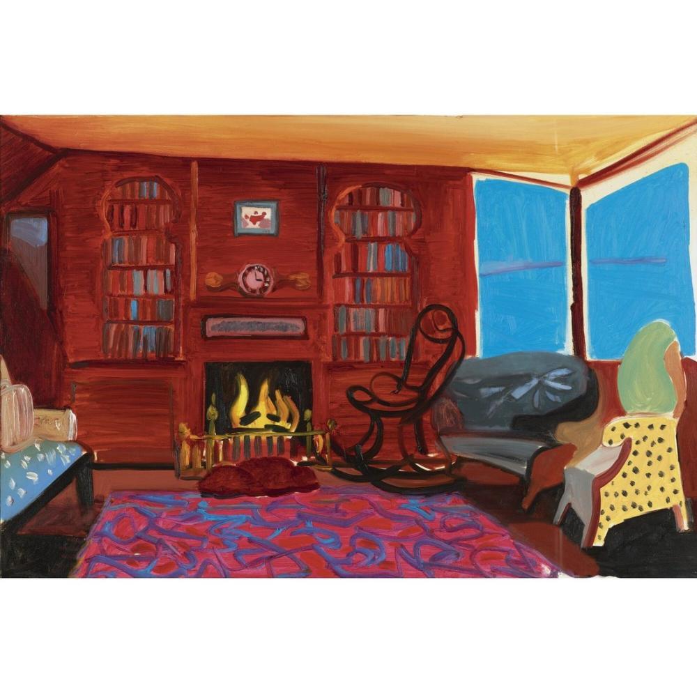 David Hockney, Günlük Sahil Evi, Kanvas Tablo, David Hockney