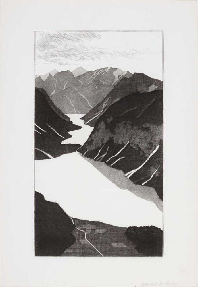 David Hockney, Göl, Kanvas Tablo, David Hockney