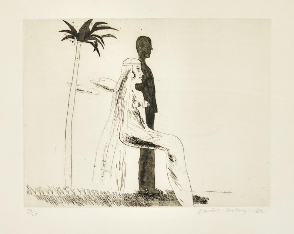David Hockney, The Marriage, Figure, David Hockney, kanvas tablo, canvas print sales