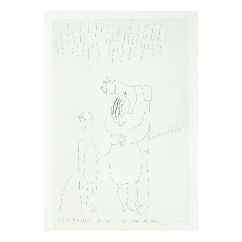 David Hockney, David ve Ann'in Hawaii'deki Evliliği, Figür, David Hockney
