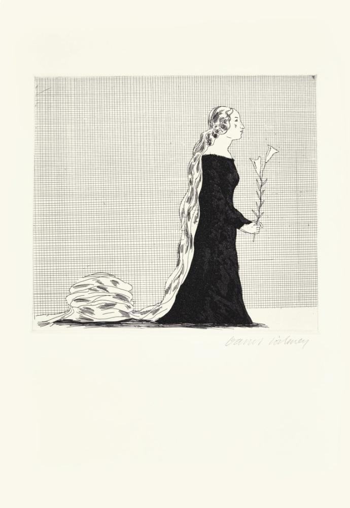 David Hockney, Yaşlı Rapunzel, Figür, David Hockney