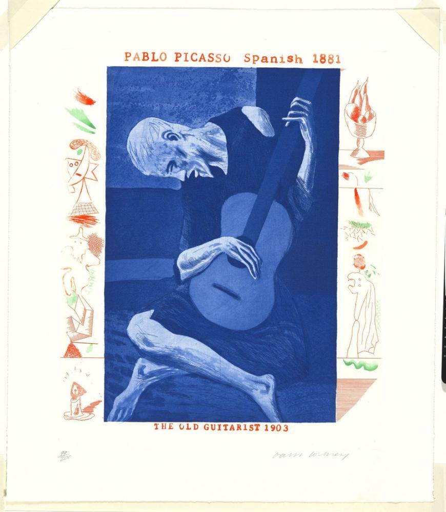 David Hockney, Eski Gitarist, Figür, David Hockney