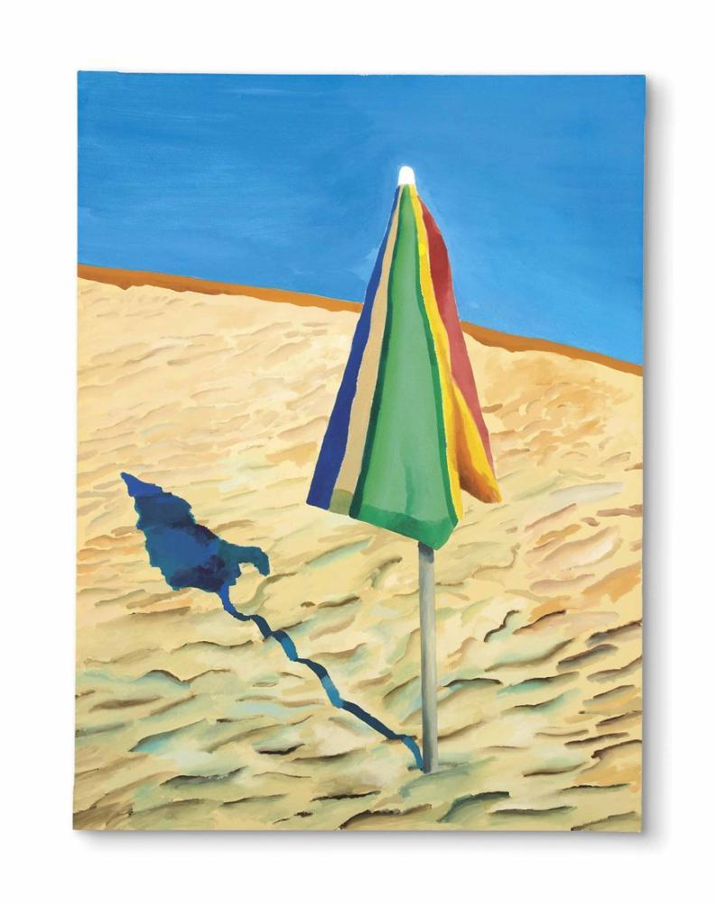 David Hockney, Plaj Şemsiyesi, Kanvas Tablo, David Hockney