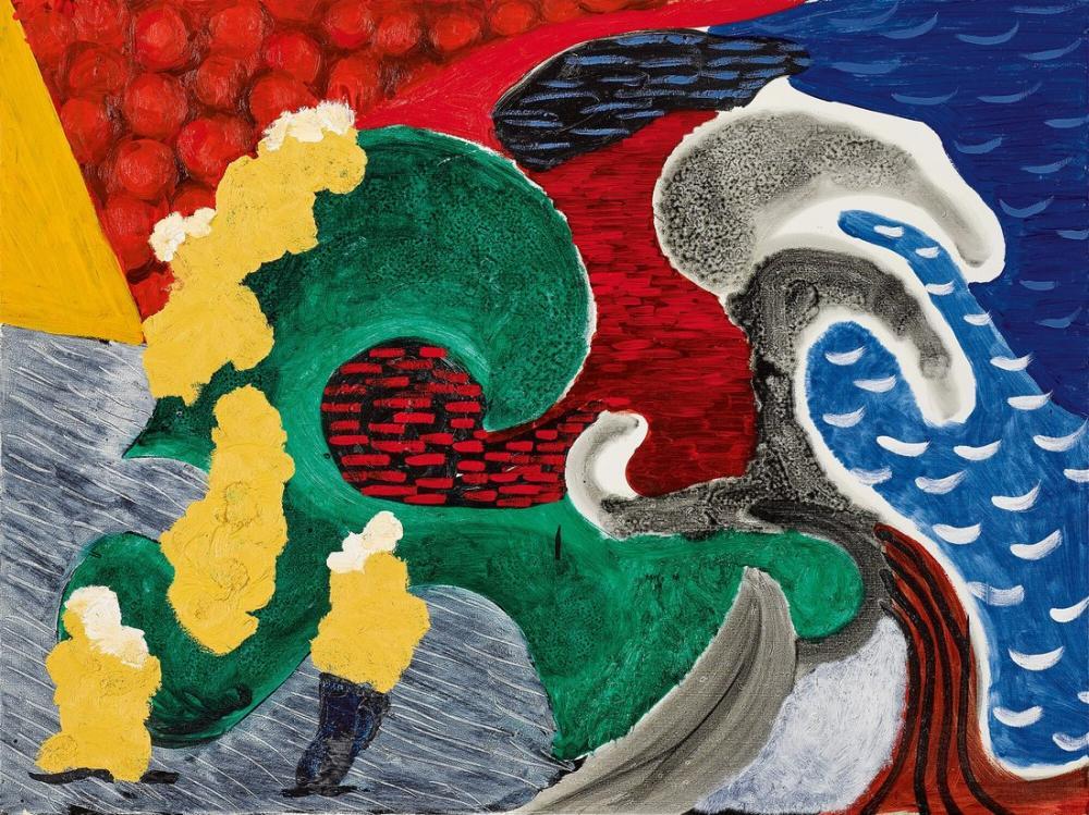 David Hockney, Dalgaları Olan Tek Kişi, Kanvas Tablo, David Hockney