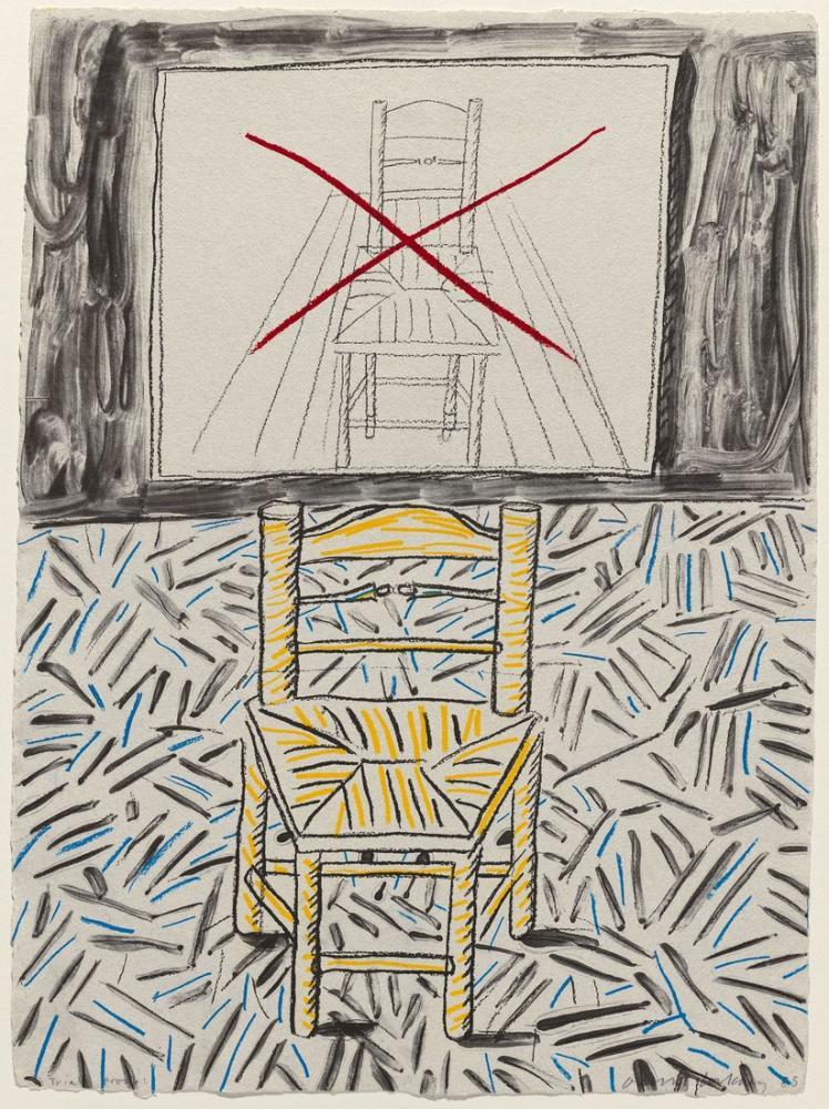 David Hockney, The Perspective Lesson, Figure, David Hockney, kanvas tablo, canvas print sales
