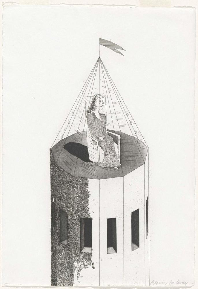 David Hockney, Kulesindeki Prenses 1969, Figür, David Hockney
