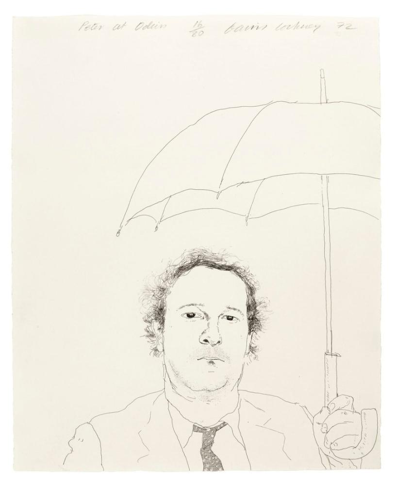 David Hockney, Lokantacı, Figür, David Hockney