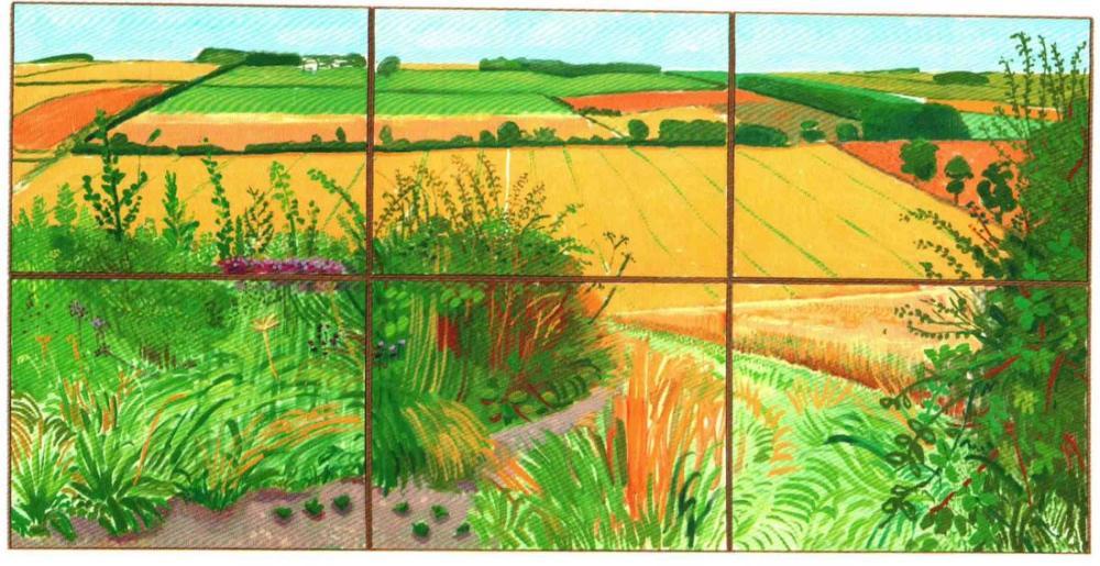David Hockney, The Road to Thwing 2006, Canvas, David Hockney, kanvas tablo, canvas print sales