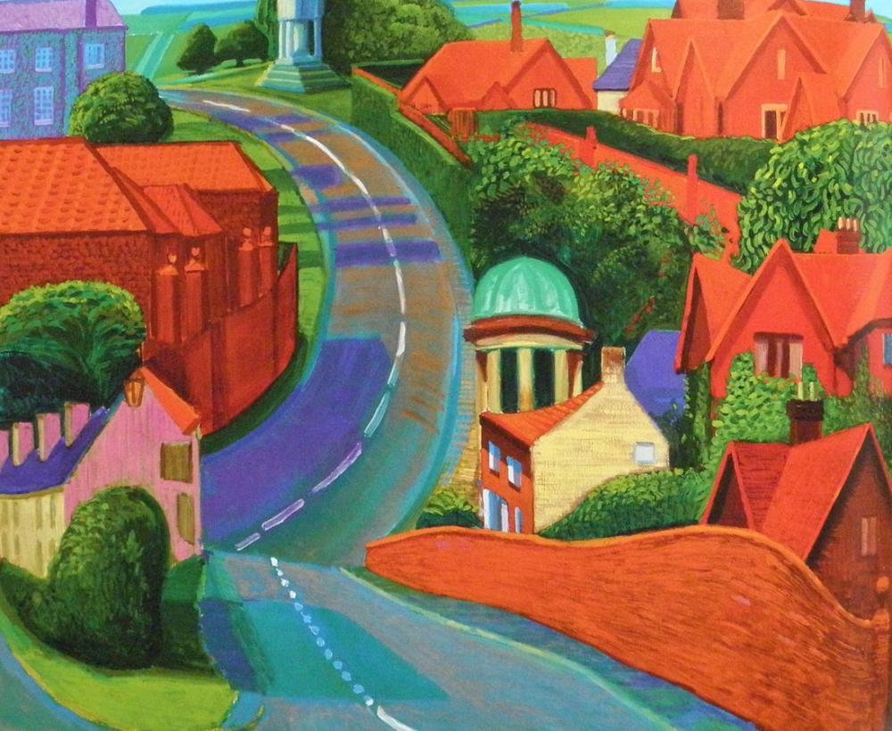 David Hockney, The Road to York Through Sledmere, Canvas, David Hockney, kanvas tablo, canvas print sales