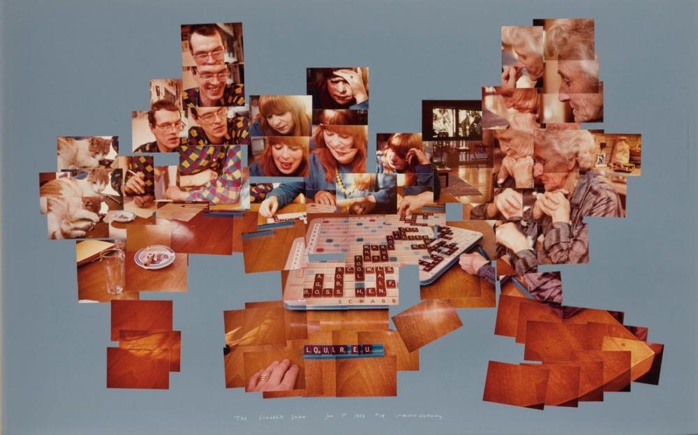 David Hockney, Scrabble, Kanvas Tablo, David Hockney