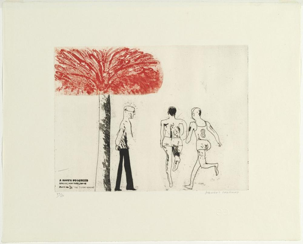 David Hockney, The Seven Stone Weakling, Figure, David Hockney, kanvas tablo, canvas print sales