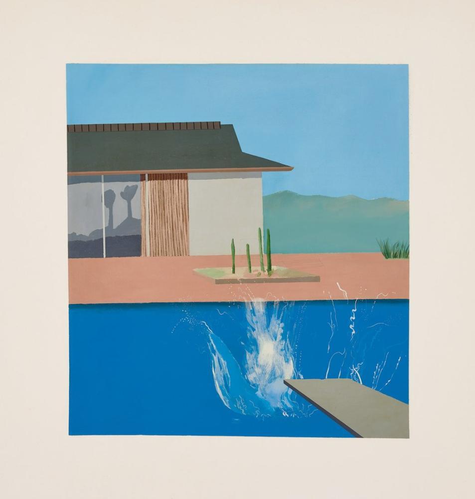 David Hockney, Sıçrama, Kanvas Tablo, David Hockney