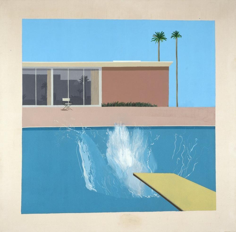 David Hockney, The Splash, Canvas, David Hockney, kanvas tablo, canvas print sales