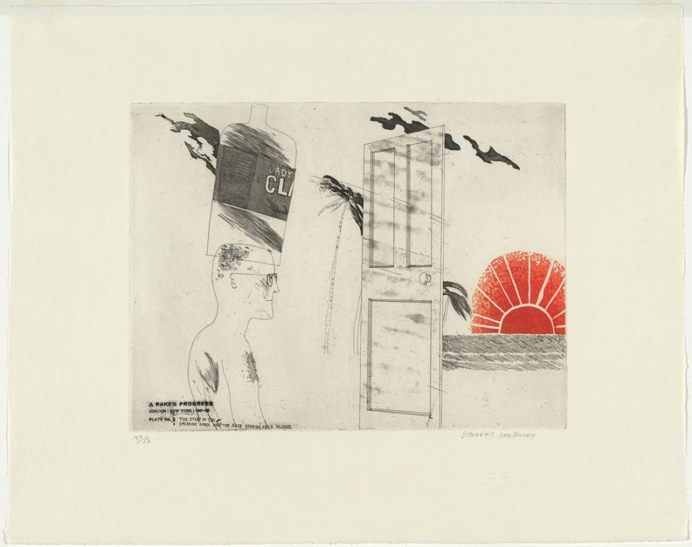 David Hockney, The Start of the Spending Spree and the Door Opening for a Blonde, Figure, David Hockney, kanvas tablo, canvas print sales