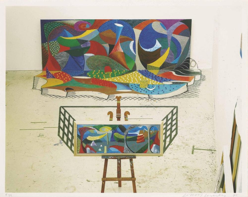 David Hockney, Stüdyo Yürüyüşü, Figür, David Hockney