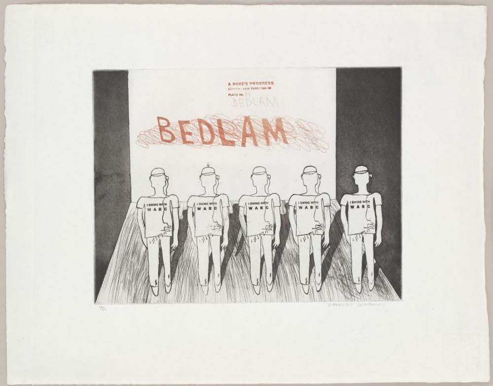 David Hockney, Bedlam, Figür, David Hockney