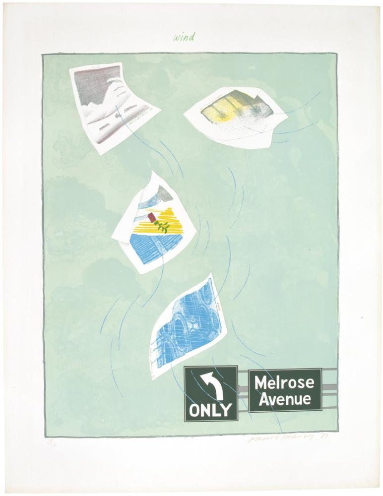 David Hockney, The Weather Series, Figure, David Hockney, kanvas tablo, canvas print sales