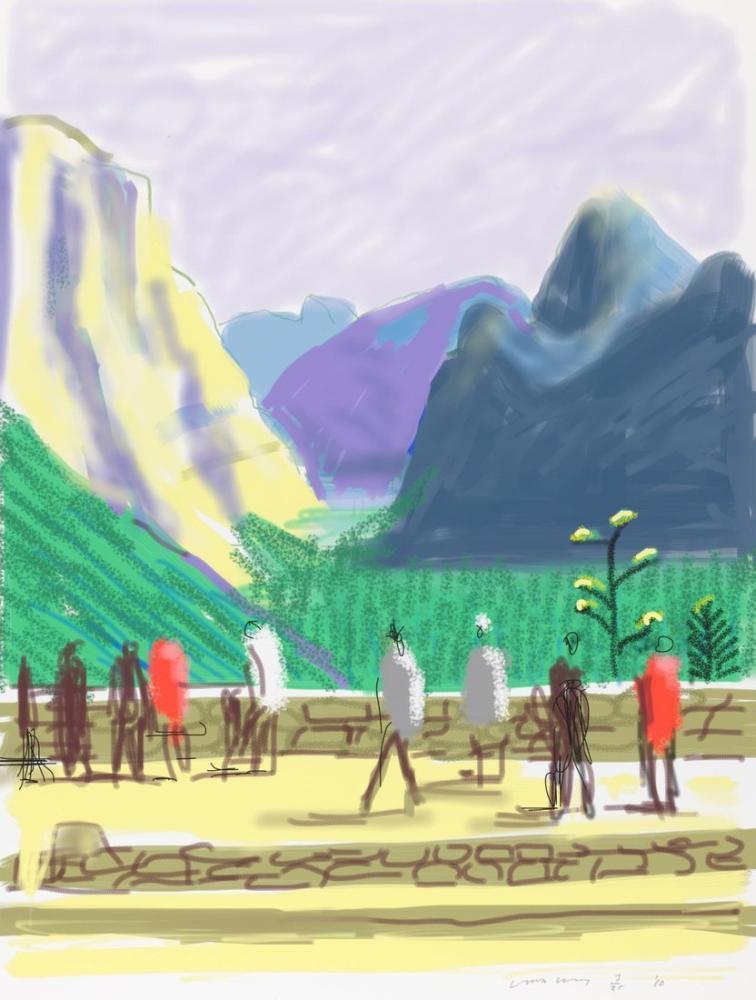 David Hockney, Yosemite Süit No 15, 2010, Figür, David Hockney