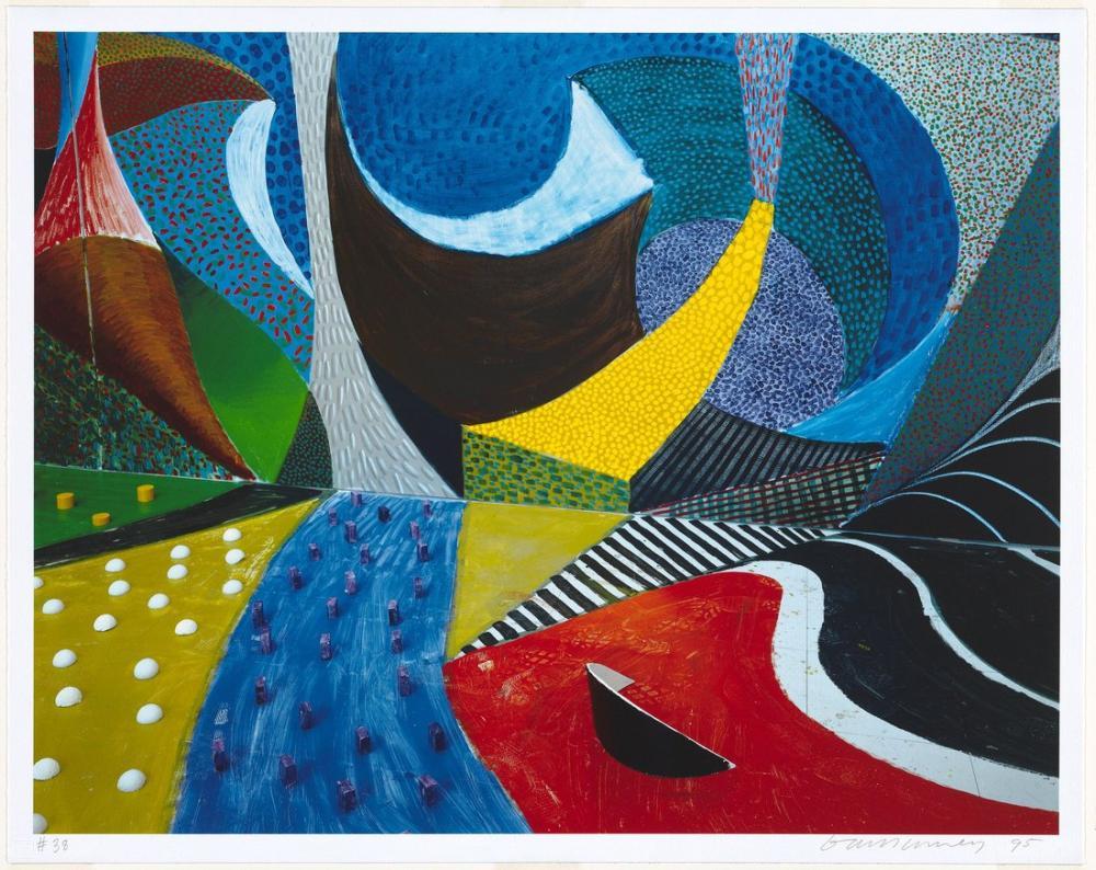David Hockney, Üçüncü Detay, Salyangoz Alanı, Kanvas Tablo, David Hockney